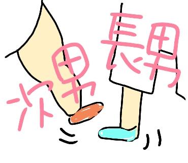 長男次男バレバレ靴下